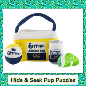 Corona Beer Dog Toy Cooler Puzzle Game Hide A Toy